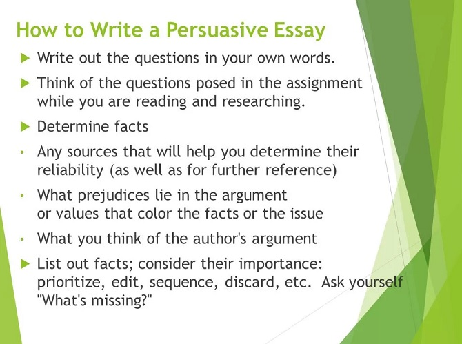 top things to write a persuasive essay about